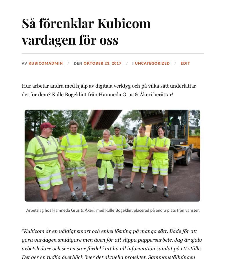 De mest lästa bygg- och anläggningsnyheterna: Så förenklar Kubicom vardagen för oss