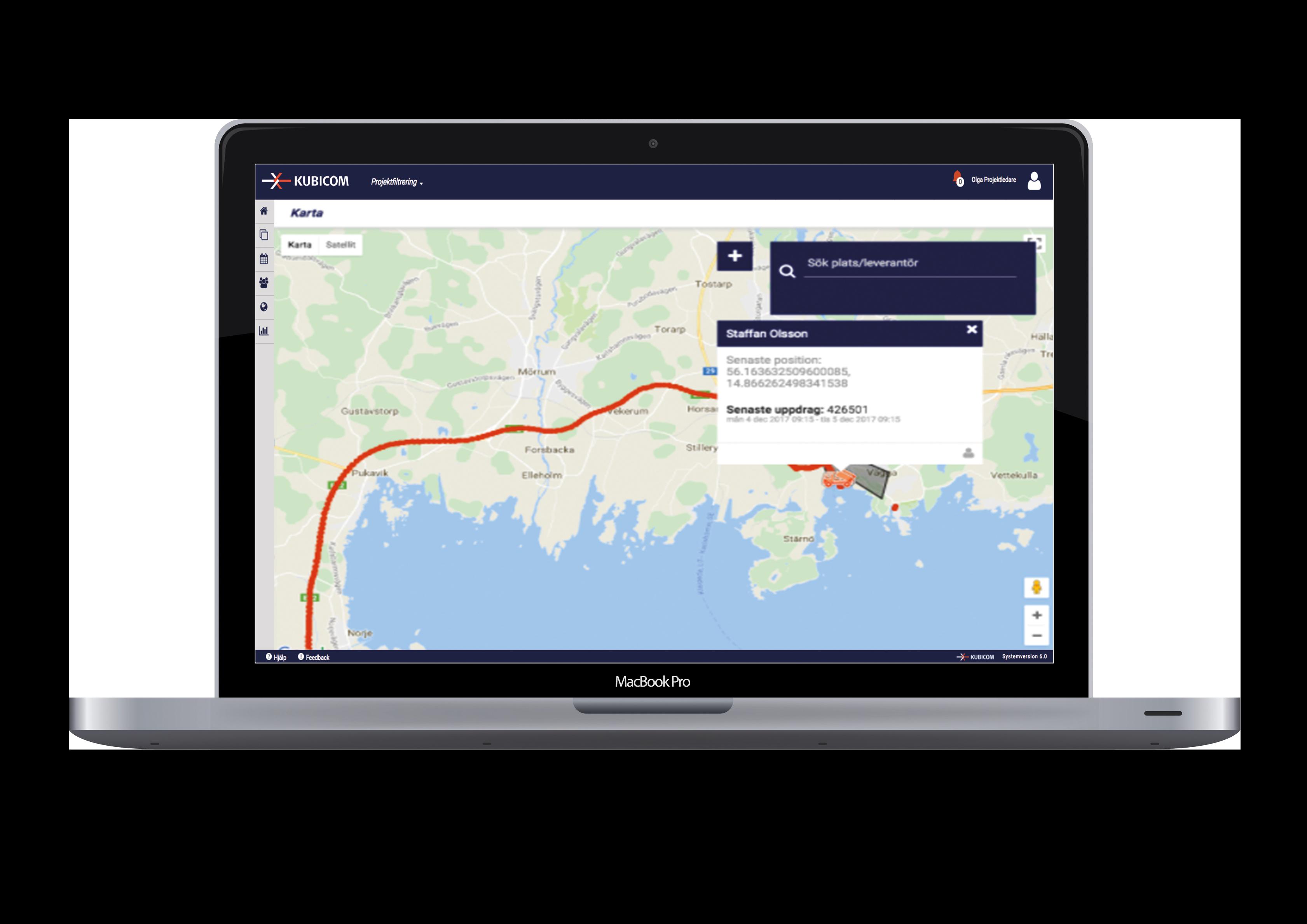 Följ dina leverantörer via karta